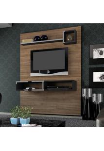 Painel Para Tv Até 55 Polegadas Sonata 1377 Ameixa Negra/Preto - Knr Móveis