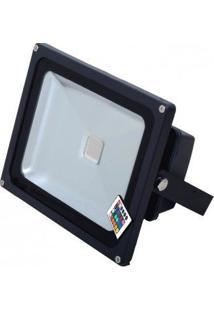 Refletor Led 20W Rgb Bivolt Luz Colorida 16 Cores Com Controle Remoto