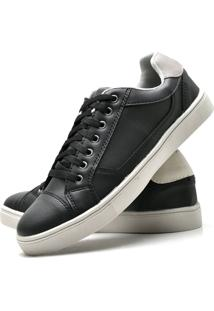 Sapatênis Sapato Casual Juilli Com Cadarço 04M Preto