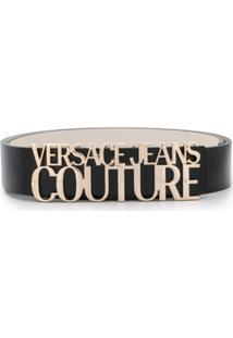 Versace Jeans Couture Cinto Com Logo - Preto