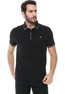 Camisa Polo Forum Reta Listras Preta