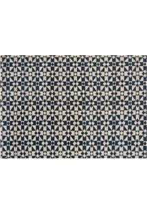Kilim Moroccan 5 White/Dark Blue