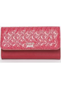 Carteira Matelassê Com Tag - Rosa & Rosa Escuro - 10Guess