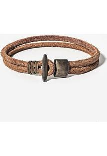 Pulseira Hermoso Compadre Mouse Tail Whisky Masculina - Masculino-Marrom