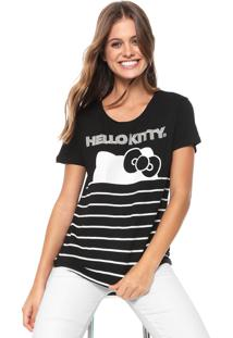 Blusa Cativa Hello Kitty Hotfix Preta