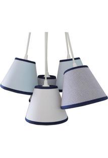 Luminária Pendente Bordas Crie Casa Tons De Azul