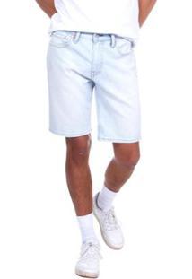 Bermuda Jeans Levis 511 Slim Hemmed Lavagem Clara Masculina - Masculino-Azul Claro