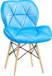 Cadeira Decorativa Slim Eiffel Azul
