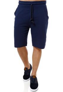 Bermuda Moletom Masculina Gangster Azul Marinho