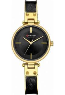 Relógio Curren Analógico C9058L Feminino - Feminino-Dourado+Preto