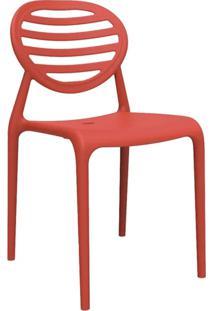 Cadeira Stripe Sem Braço Vermelha