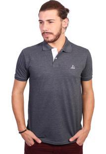 Camisa Polo Clube Náutico Slim Preto Mescla