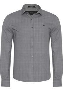 Camisa Masculina Teide Slim New Italian - Cinza