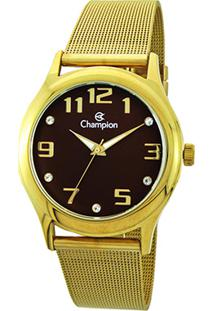 4632631a4d1 ... Relógio Champion Analógico Cn29007R Feminino - Feminino-Dourado