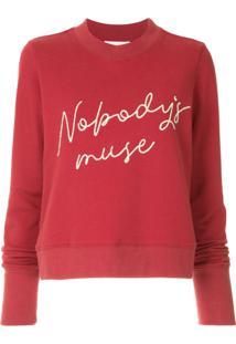 Nobody Denim Moletom Nobody'S Muse Favourite - Vermelho