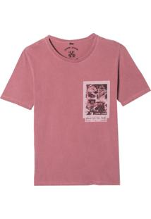 Camiseta John John Rg Front Pics Malha Algodão Vermelho Masculina (Vermelho Escuro, Pp)