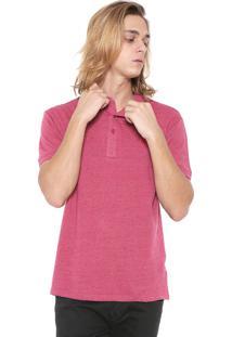 Camisa Polo Red Nose Reta Botonê Pink