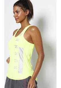 Regata Nadador ''Runner''- Amarelo Neon & Prateada- Physical Fitness