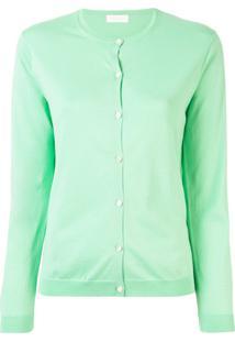 Tomorrowland Cardigan Decote Careca Com Abotoamento - Verde