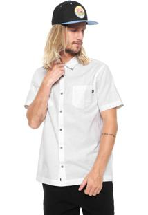 Camisa ...Lost Reta Estampada Branca