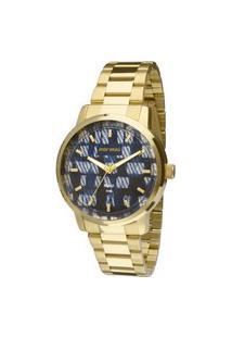 Relógio Mormaii Analógico Luau Mo2036Hu4A Dourado