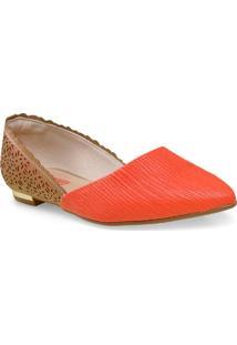 Sapatilha Fem Piccadilly 274030 Tan/Coral