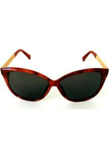 Óculos De Sol Wayfarer Cayo Blanco Feminino - Feminino-Marrom
