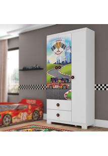 Guarda Roupa Infantil Super Power 3 Portas Branco Estrela
