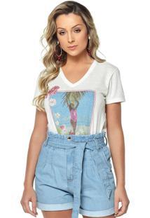 T-Shirt Daniela Cristina Gola V 11 602Dc10294 Branco