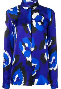 Just Cavalli Blusa Com Estampa Abstrata - Roxo