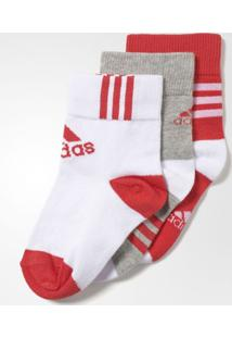Meia Adidas Ankle Mid Kids 3Ppk
