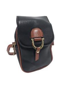 Bolsa Shoulder Bag Fanlice Transversal Pequena Preta