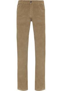 Calça Masculina Veludo Cotelê 5 Pockets - Bege