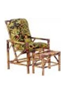 Conjunto Mesa E Cadeira De Bambu Cancun Para Área Edicula Jardim G20