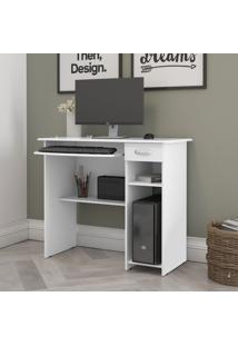 Mesa De Computador Viena Ej Móveis Branco 6600 Escrivaninha