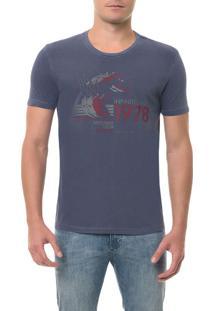 Camiseta Calvin Klein Jeans Estampa Repetição Marinho Camiseta Ckj Mc Estampa Repetição - Marinho - M