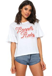 Camiseta Sommer Babados Branco