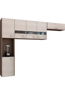 Cozinha Compacta 3 Peças Julia - Poquema - Capuccino / Amendoa