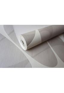 Papel De Parede Tnt Lavável Maya Wallpaper 0,53 X 9,5M Cinza/Off White