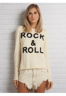 Blusa John John Rock E Roll Tricot Off White Feminina (Off White, Gg)