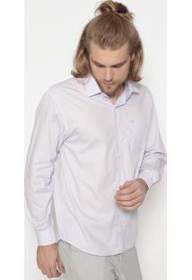 Camisa Lisa Tradicional Com Bolso- Lilã¡Sogochi
