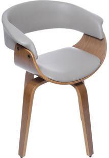 Cadeira Barcelona - Cinza & Marrom Claro - 78X60X40Cor Design