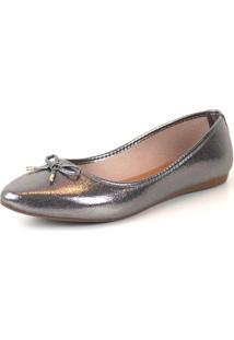 Sapatilha Tag Shoes Metal Laço Prata Velho - Tricae