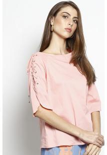 Blusa Lisa Com Amarração- Rosa- Nemnem