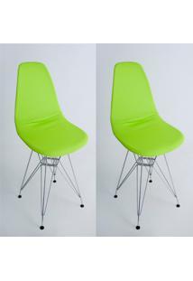 Kit Com 02 Capas Para Cadeira De Jantar Eiffel Wood Verde Citrus