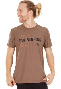 Camiseta Side Walk Camiseta Sw Surfing Bege