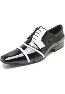 Sapato Social Jota Pe Recortes Preto/Branco