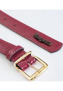 Cinto Vermelho Com Textura E Verniz Plus Size