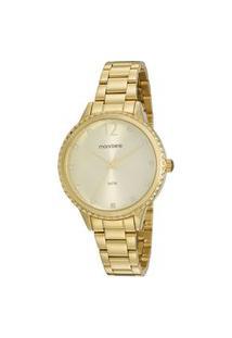 Kit Relógio Feminino Mondaine Analógico 99535Lpmvde1Ka + Colar Dourado