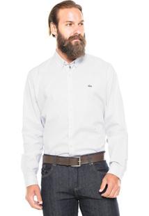 Camisa Lacoste Textura Cinza